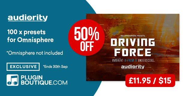 Audiority Driving Force for Omnisphere 50% OFF