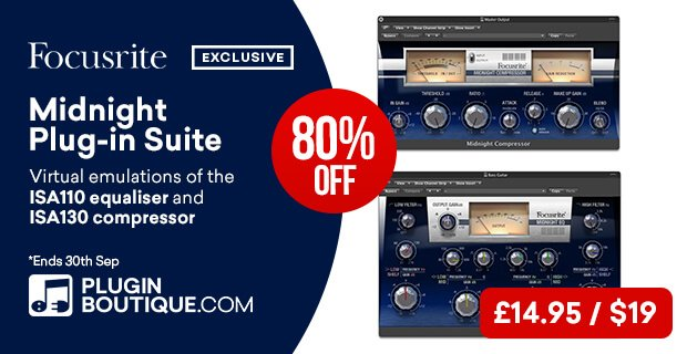 Focusrite Midnight Focus Bundle sale