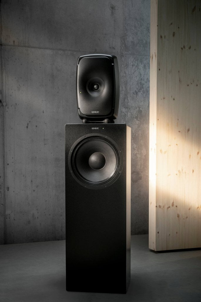 Genelec 8361A coaxial three way monitor and W371A Adaptive Woofer System