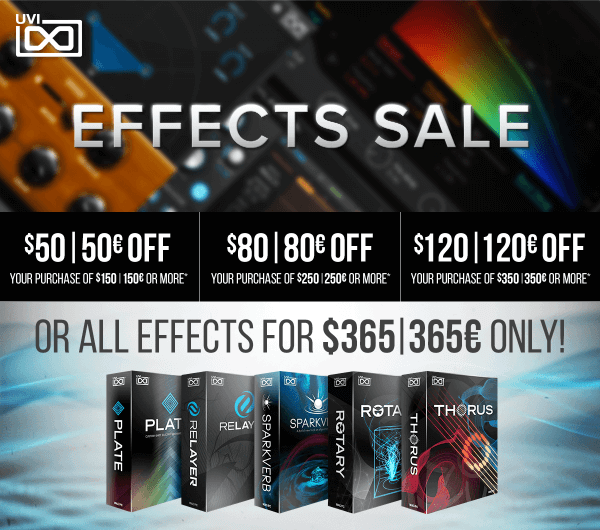 UVI Effects Sale