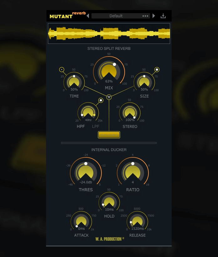 WA Production Mutant Reverb GUI