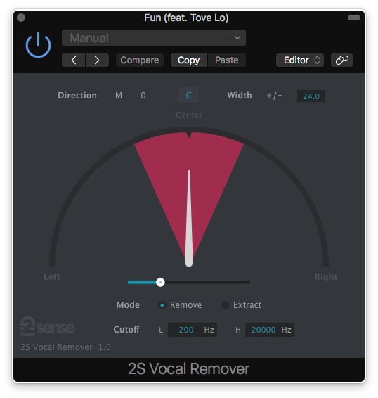 2nd Sense Audio Vocal Remover