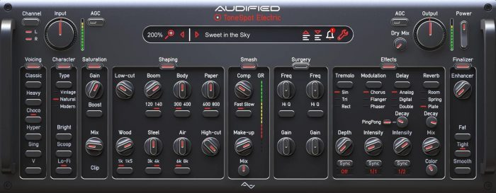 Audified ToneSpot Electric Pro GUI