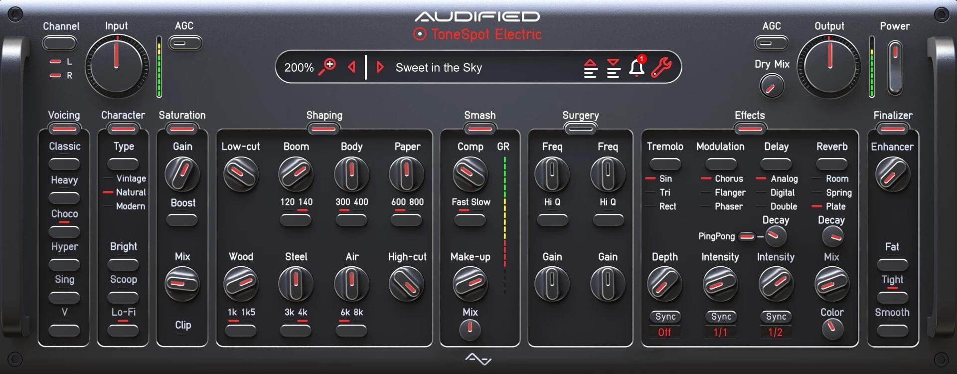 audified releases tonespot electric pro multi fx effect plugin. Black Bedroom Furniture Sets. Home Design Ideas
