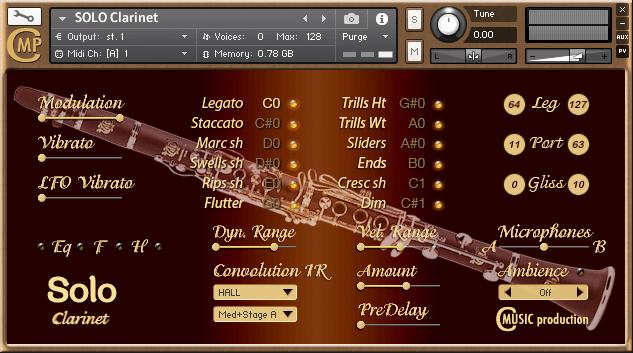 Cmusic Solo Clarinet