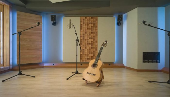 A private studio in Barcelona, Spain, where EZ Acoustics performed the acoustic treatment