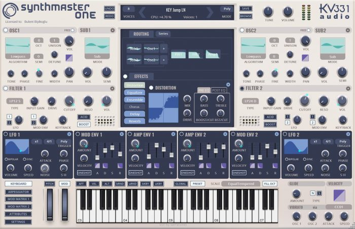 Synthmaster One white skin