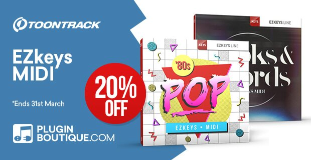 Toontrack EZkeys MIDI Sale