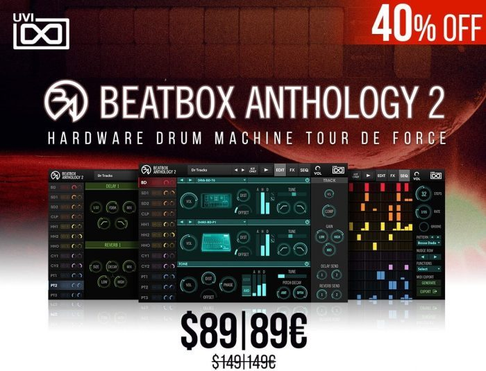 beatbox anthology 2 collection of 100 drum machines on sale for 89 usd. Black Bedroom Furniture Sets. Home Design Ideas