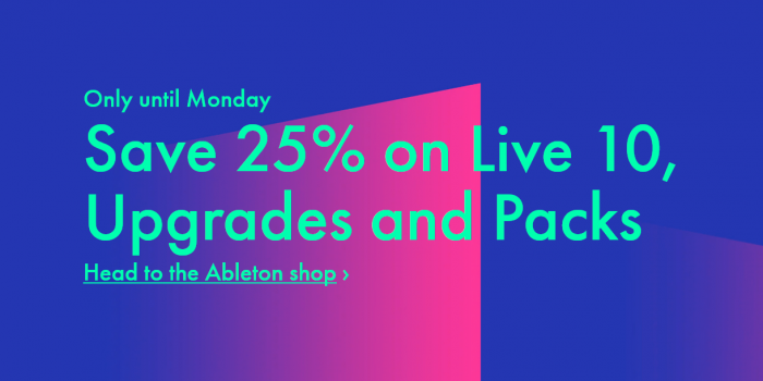 Ableton 25 OFF Live 10