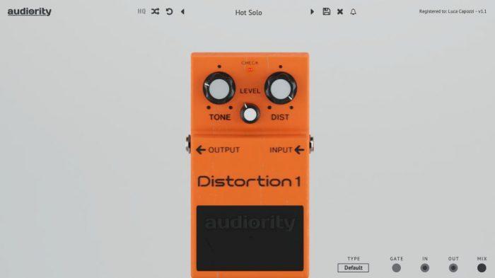 Audiority DistortionOne GUI