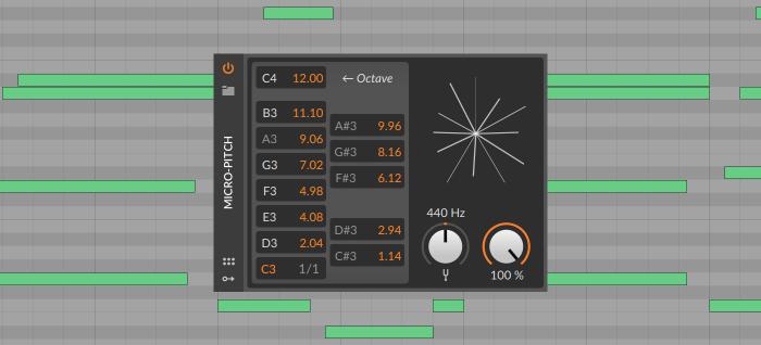 Bitwig Studio 3.1 Micro Pitch 6C