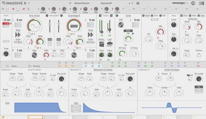 Native Instruments Massive X 1.1.0 (flat light skin)