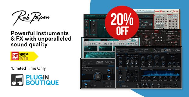 Rob Papen End of Year 20% OFF
