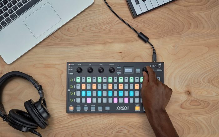 Akai Pro Fire top down