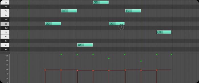 MOTU DP10 MIDI edit