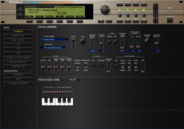 Roland Cloud XV5080 Edit