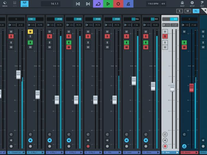 Steinberg Cubasis 3 iPad mixer