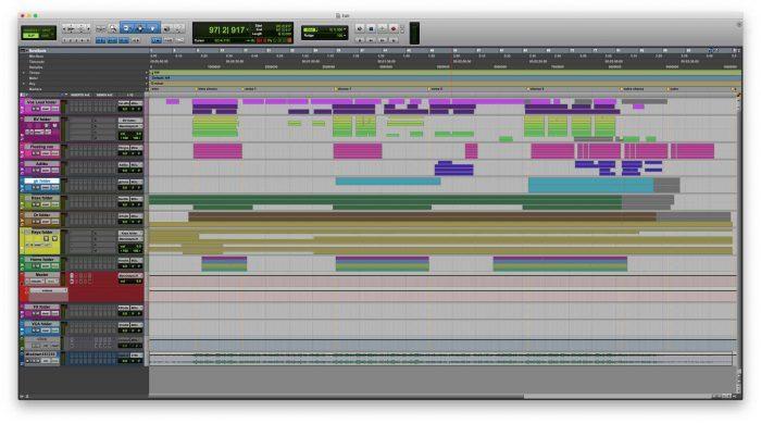 PRO TOOLS 2020 Folder tracks MUSIC 1