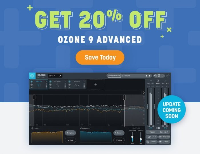 iZotope Ozone 9 Advanced 20 OFF