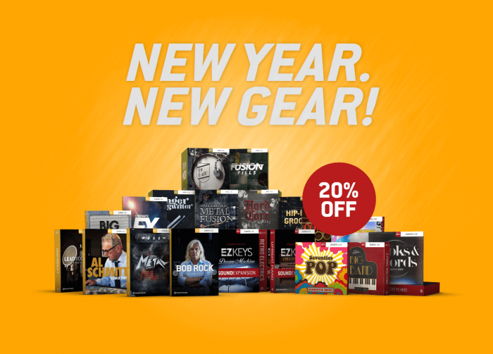 Toontrack New Year New Gear sale