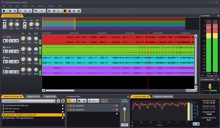Acoustica   Multitrack Session