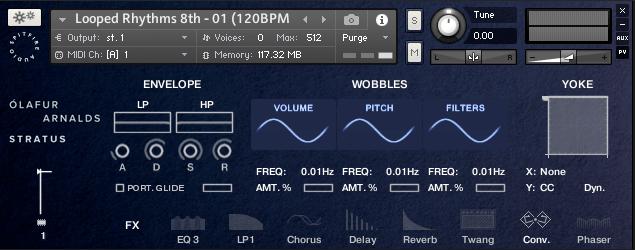 Spitfire Audio Ólafur Arnalds Stratus Mercury synth