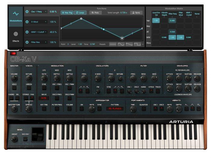 Arturia OB Xa V modulation