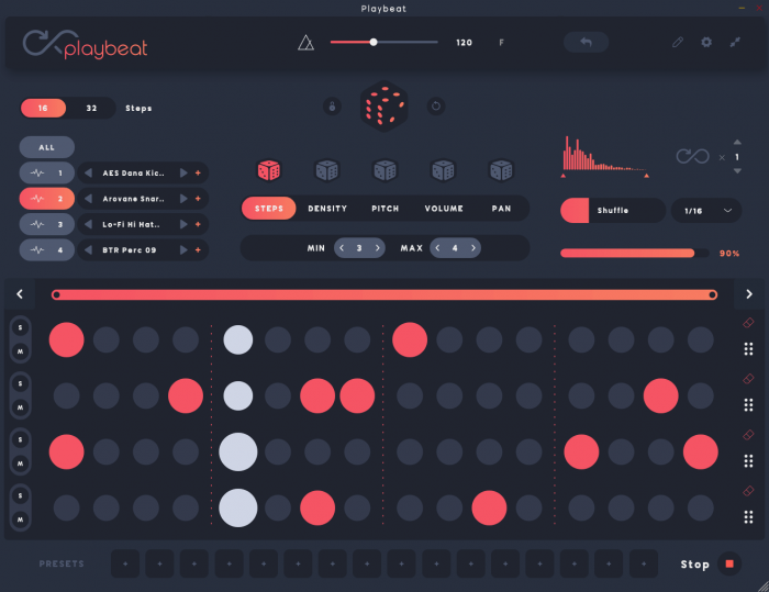 Audiomodern Playbeat 2 GUI
