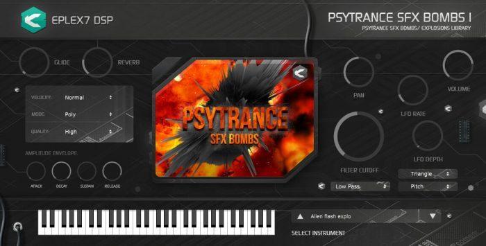 Eplex7 Psytrance SFX bombs1 plug in instrument
