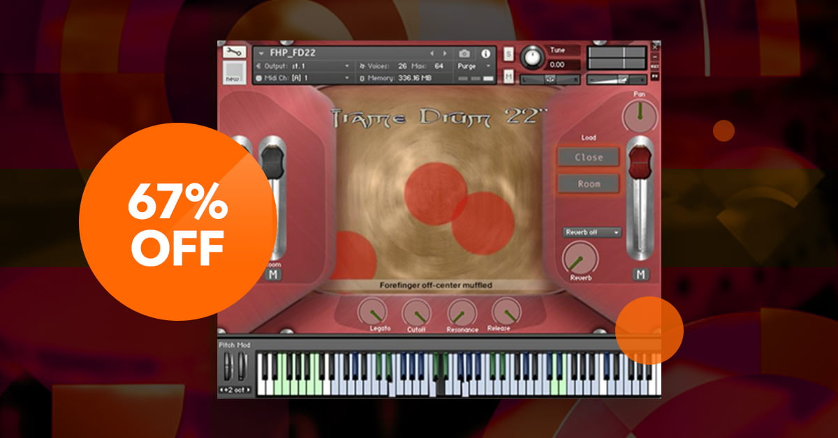 Flyinghand Percussion for Kontakt by Handheld Sound on sale for 49 EUR
