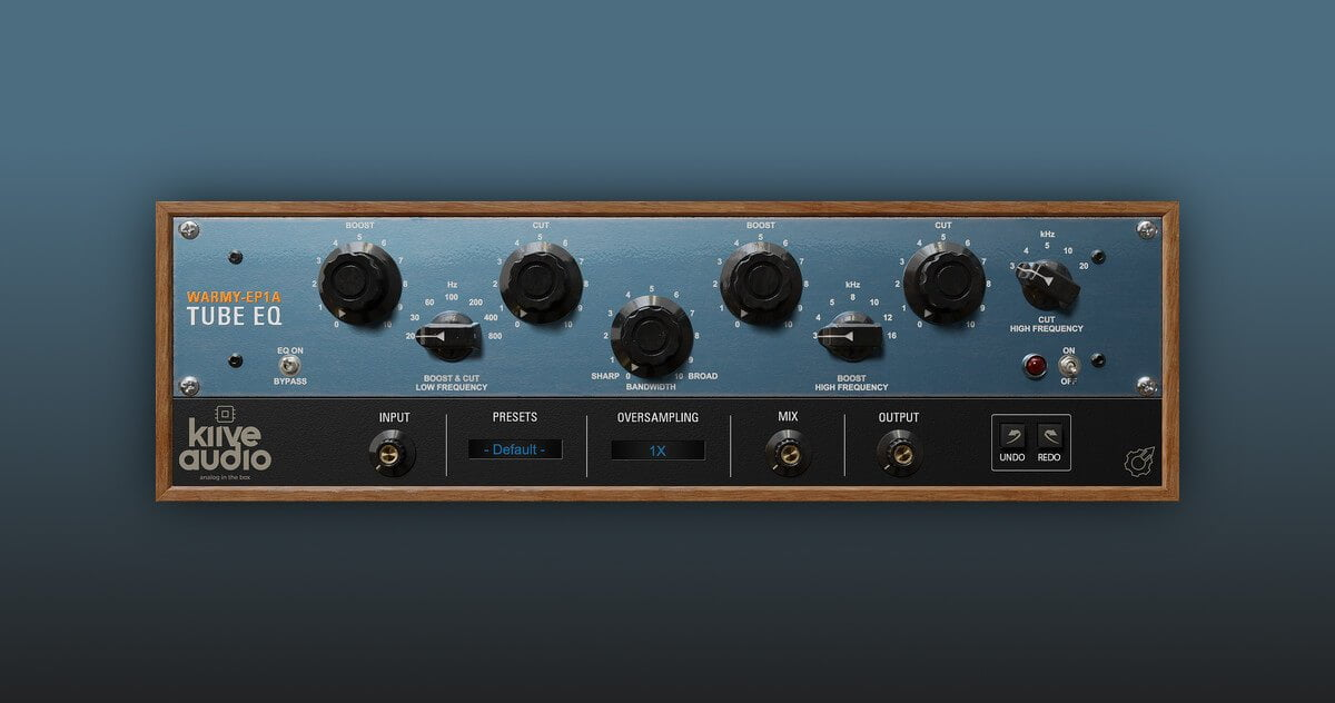 Warmy EP1A Tube EQ free Pultec equalizer plugin by Kiive Audio